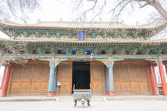 GANSU, CHINA - 08 April 2015: Wuwei Confuciaanse Tempel (Wuwei Wen Mi Stock Afbeeldingen