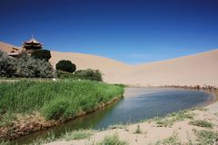 Gansu Desert Royalty Free Stock Images