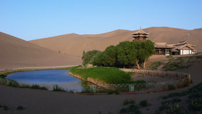 Gansu Dunhuang Crescent Lake scenery. Eastphoto, tukuchina,  Gansu Dunhuang Crescent Lake scenery Stock Images