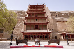 Gansu Dunhuang Mogao Grottoes scenery Royalty Free Stock Photography