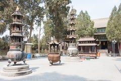 GANSU KINA - April 08 2015: Haizang tempel en berömd historisk si Arkivbild