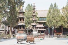 GANSU KINA - April 08 2015: Haizang tempel en berömd historisk si Arkivfoton
