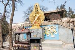GANSU KINA - April 08 2015: Haizang tempel en berömd historisk si Royaltyfria Foton