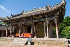 Gansu Kongtong mountain Chinese. Chinese Taoist shrine Gansu Kongtong mountain Stock Photography