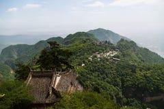 Gansu Kongtong mountain Chinese. Chinese Taoist shrine Gansu Kongtong mountain Royalty Free Stock Photo