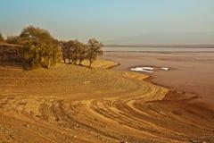 Gansu Yellow River solnedgång royaltyfria foton