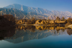 Gansu yellow river sunset Royalty Free Stock Photos