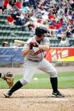 Gant de baseball Wyatt Toregas d'Indiens d'Indianapolis Image libre de droits