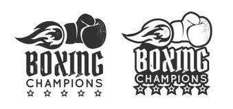 Gant de boxe avec la flamme illustration libre de droits