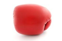 Gant de boxe d'isolement sur la vue de face blanche Photographie stock libre de droits