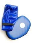 Gant de boxe et garniture sparring Photographie stock