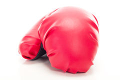 Gant de boxe rouge Images stock