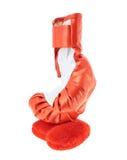 Gant de boxe rouge d'isolement Photographie stock libre de droits