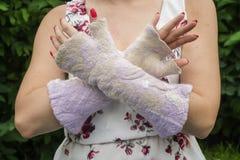 Gant de feutre de laine Photo stock