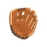 Gant en cuir de receveur, partie de munitions de joueur de baseball et objets d'isolement par ensemble d'équipement Photos stock
