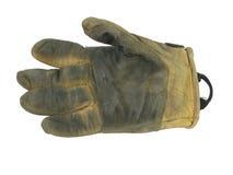 Gant en cuir utilisé de travail Images libres de droits