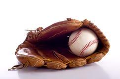 Gant et bille de base-ball Photos stock