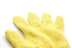 Gant jaune de la chaleur Photo libre de droits