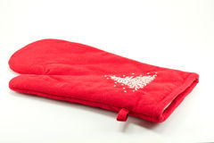 Gant rouge de four Photographie stock
