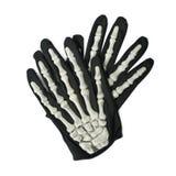 Gant squelettique de main d'isolement Images libres de droits