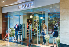 Gant Store clothes in the mall Metropolis royalty free stock image