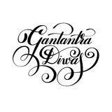 Gantantra Diwas handwritten ink lettering inscription. For indian winter holiday 26 January, calligraphy vector illustration Stock Photos