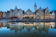 Gante constructiva histórica, Bélgica Imagen de archivo