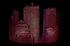 Ganterie abstraite de ‹d'†de ‹d'†de ville Image libre de droits