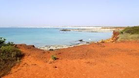 Gantheaume Point, Broome, Western Australia. Panorama of Broome's Coast, Australia Royalty Free Stock Images
