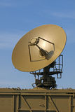 Gantry. The military aerial of a radar against the blue sky Royalty Free Stock Photo