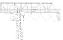 Gantry bridge crane, top, part Royalty Free Stock Photos