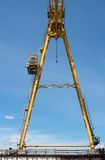 Gantry crane against the blue sky Royalty Free Stock Images