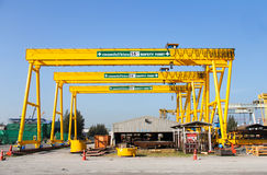 Gantry crane royalty free stock image