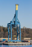 Gantry crane on the dock Stock Images