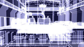 Gantry crane in a factory environment. X-ray Stock Photo