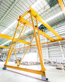 Gantry crane in factory Stock Images