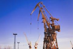 Gantry crane, ship-to-shore crane elements royalty free stock photo