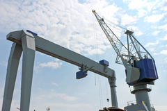 Gantry crane for unloading Stock Photos