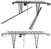 Gantry Crane Vector 02 Royalty Free Stock Image