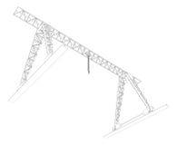Gantry crane. Wire-frame. Vector Stock Photos