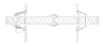 Gantry crane. Wire-frame. Vector Royalty Free Stock Photos