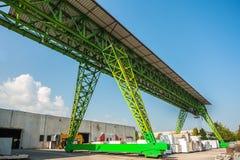 Gantry crane at work Stock Images