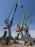 Gantry cranes Stock Photo