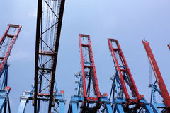 Gantry cranes Royalty Free Stock Photography