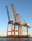 Gantry cranes. Photo of gantry cranes in Brooklyn, New York stock photography