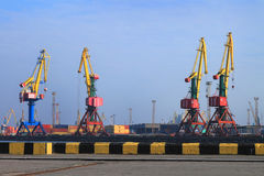 Gantry cranes in port Stock Photos