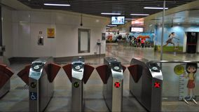 Gantry gates - MRT station Stock Photography