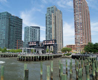 Gantry Plaza State Park in Long Island City, New York Stock Photos