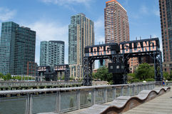 Gantry Plaza State Park in Long Island City, New York Stock Photography