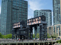 Gantry Plaza State Park in Long Island City, New York Royalty Free Stock Photography